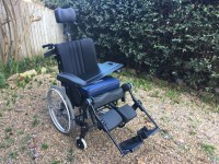 Rea Azalea 'tilt in space', reclining passive wheelchair, medium chassis